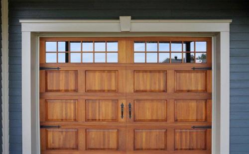 Porte de garage en bois menuiserie de l 39 estrie - Porte de garage 4m ...